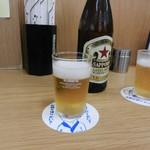 四ツ木製麺所 - ビール(赤星)