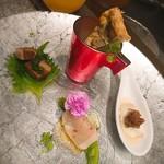 鉄板 あらた - 前菜4種盛り!       洋の雰囲気の盛り合わせです(*^。^*)