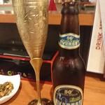 ラリグラス アジアンダイニングバー - エベレストビール、カップが個性的
