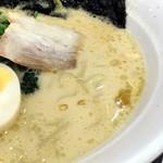 オリオン餃子 - クリーミーなスープ。