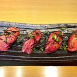108146907 - 和牛A5ランクの肉寿司