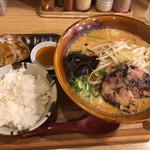 味噌乃家 - 味噌ラーメン&餃子ライスセット