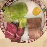和風もつ料理 あらた - コールタンとネックスモーク(半分ずつ)