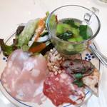 トラットリアエピッツェリアヤンモ - 前菜盛り合わせ