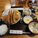 河童亭なお - 料理写真:盛り合わせフライ定食