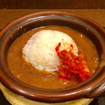 大阪鶴橋カレーうどん ニュー鶴橋  - キムチカレーライス650円
