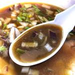 108167329 - こく醤油のスープ