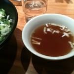麻布麺房どらいち - 汁なしタンタン麺はスープ付き