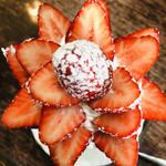 108179572 - 真上からっ!(๑・̑◡・̑๑)♡いちごのお花が咲きました〜♡
