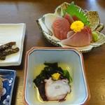 豊陣 - 会席料理(松):刺身、酢の物