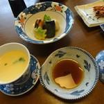 豊陣 - 会席料理(松):茶碗蒸し、焚合せ