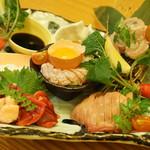 鳥巣亭 - 料理写真:ゴージャス過ぎる鶏刺し三昧