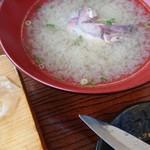 力寿司 - ジャンボ寿司あら汁