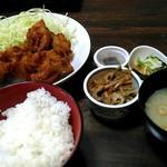 おふくろの味 - ザンギ定食550円。