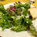 108198061 - セットのグリーンサラダと自家製フォカッチャ(^^)