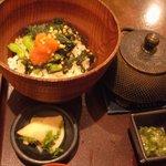 風神 - 博多原口商店の明太子と野沢菜のお茶漬け