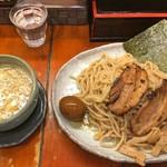 つけ麺 紫匠乃 - 紫つけ麺 全部入り(大盛)(熱盛り)