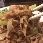 魁 肉盛りつけ麺 六代目 けいすけ - 甘辛い牛バラ肉が美味です!