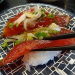 廻鮮寿司かね喜 - 漬けまぐろ 189円 [20111217]