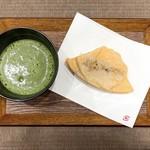 ふじやまたいやき - 料理写真:たいやき抹茶セット