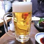 蔵元居酒屋 清龍 - サッポロ黒ラベル ジョッキ(399円)