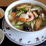 中国料理 輝楽飯店 - 海鮮刀削麺 醤油
