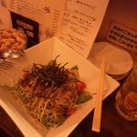 汐留バル 7 - 水菜と大根の和風サラダ
