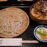 喉越しの蕎麦晴朗 - ランチ イカ天丼セット