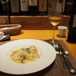 トラットリア・アルモ - 筍 & 白ワイン