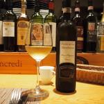 トラットリア・アルモ - 筍に合わせた白ワイン