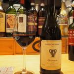 トラットリア・アルモ - カルボナーラに合わせた赤ワイン