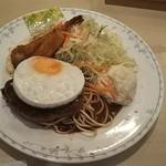 Touyou - Bランチ(海老フライとイカフライと目玉焼きハンバーグ) 1,000円 ♪