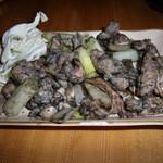 とり森 - 鶏ミックス焼き大+白ねぎ 1,060円+210円  せせり・はらみ・もも