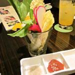 くらち - カップサラダ550円(10種類の野菜をハーブ塩・味噌・ドレッシングで!)