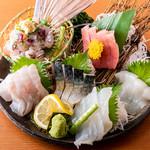 UMAMI日本酒弐番館 - 2019夏コースのお造り盛り