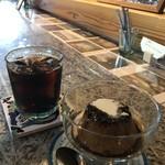 タテイト珈琲店 - 料理写真:アイスコーヒーとプリン(2019.5.23)