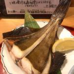 旬の味 たき下 - 鰈の汐干し焼き