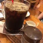 珈琲屋OB - アイスコーヒー、大きさわからないですね、、、ビールジョッキくらち