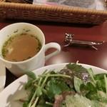 肉&チーズ&ワイン 神保町ビストロ Fleurie - スープ
