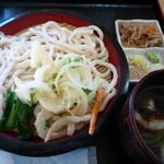 肉汁うどん青柳 - ざるうどん小(かき揚げ付)