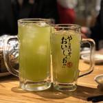 濱松たんと - 緑茶割り、大ジョッキ緑茶割り