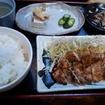 ダイマル ヤキトリ - みそチキン定食(500円)
