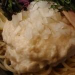 布施丿貫 - 「山崎真鯛白湯(冷/大盛)」の鯛のペースト