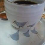 おかしときっさ たまごや - 氷温熟成珈琲のスペシャリティブレンドは、カワイイ小鳥さんカップで♪