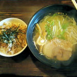 麺屋 一揆 - 塩ラーメン&チャーシュー丼