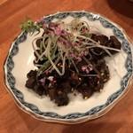 中華バール金柑 - 牛ツラミのあて(600円)
