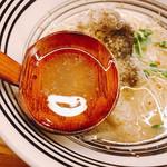 堂の浦 - 鯛のあらからとったスープ 美味(* >ω<)