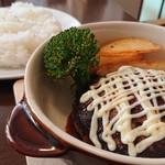 田園 - 料理写真:【ハンバーグランチセット】税込¥1,000(生ハムサラダ・ドリンク付き)