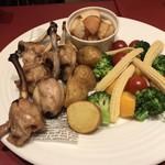 銀座ワイン食堂 パパミラノ - チーズフォンデュの具材