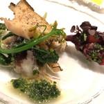 レストラン ル ボヌール - 前菜1:貝尽くし、鯨&トマト